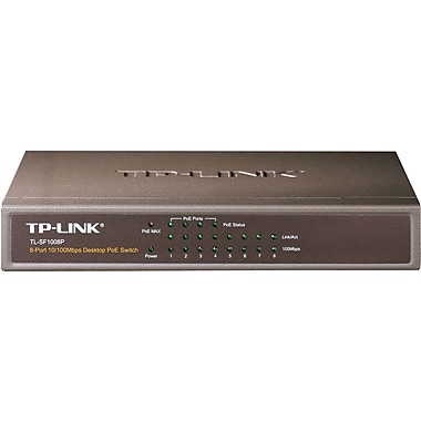 TP-LINK 8-Port 10/100Mbps Desktop Switch with 4-Port PoE (TL-SF1008P)