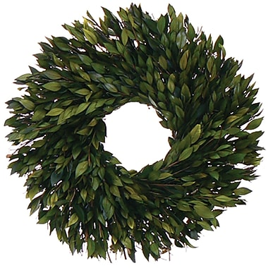 Evergreen Myrtle  Dried Floral Wreath