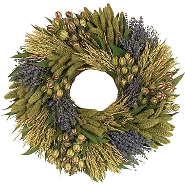 Lavender Grassland Dried Floral Wreath, 22in