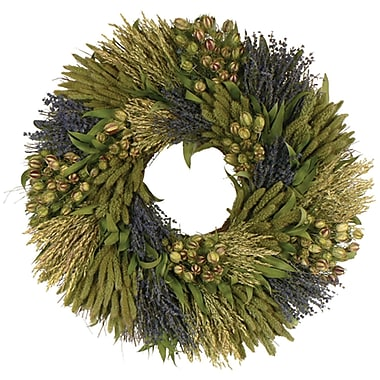 Lavender Grassland  Dried Floral Wreath, 30in