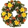 Dazzling Daffodils Dried Floral Wreath, 18in