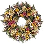 Petals And Pomes Collection Dried Floral Wreath, 18in