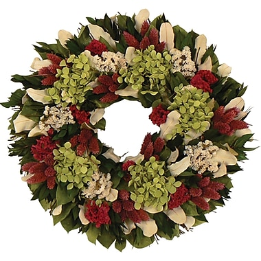 Raspberry Tinted Collection Dried Floral Wreath