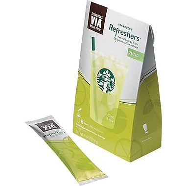 Starbucks VIA Refreshers Instant Beverages, Cool Lime, 6 Packets/Box