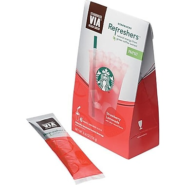 Starbucks VIA Refreshers Instant Beverages, Strawberry Lemonade, 6 Packets/Box