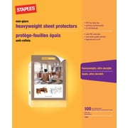 Staples® Sheet Protector, Clear, 100/Pack (13860-CC)