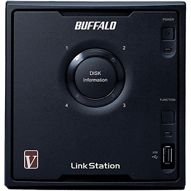 Buffalo LinkStation™ Pro Quad LS-QV8.0TL/R5 4-Bay Network Attached Storage, 8 TB