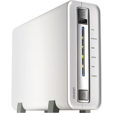 QNAP® TS-112 1-Bay Network Attached Storage Server For Home and SOHO, 3 TB