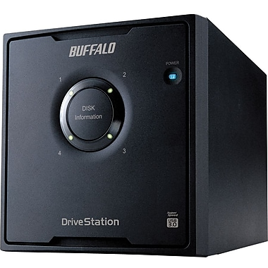 Buffalo DriveStation™ Quad HD-QL8TU3R5 Portable External Hard Drive, 8 TB