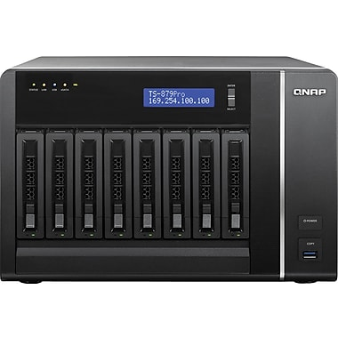 QNAP® TS-879-PRO Ultra-High Performance 8-Bay Network Attached Storage Server, 32 TB