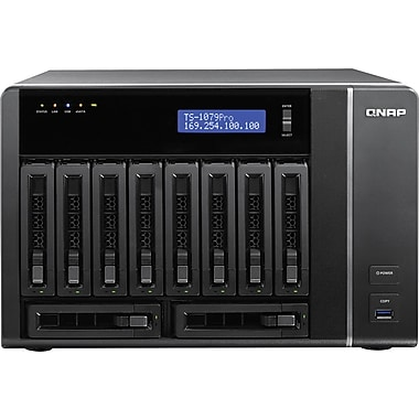 QNAP® TS-1079-PRO Ultra-High Performance 10-Bay Network Attached Storage Server, 40 TB