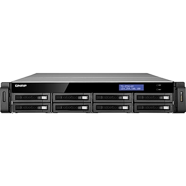 QNAP® TS-EC879U-RP Ultra-High Performance 8-Bay Network Attached Storage Server, 32 TB