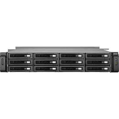 QNAP® TS-EC1279U-RP Ultra-High Performance 12-Bay Network Attached Storage Server, 48 TB