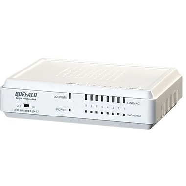 Buffalo LSW3-GT-8EP/W Gigabit Switch, 8 Ports