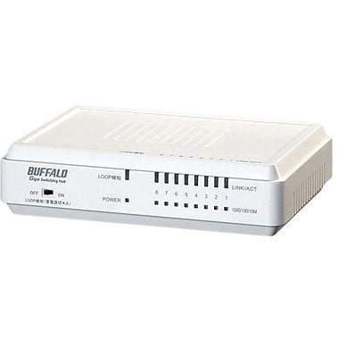 Buffalo LSW3-GT-8EP/W Gigabit Switch, 8 Ports