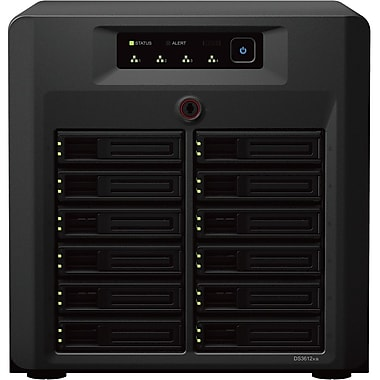 Synology® DS3612XS Ultra-High Performance 12-Bay Network Attached Storage Server, 48 TB