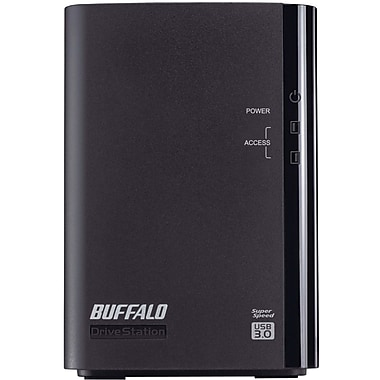 Buffalo DriveStation™ Duo HD-WL8TU3R1 Portable Hard Drive, 8 TB