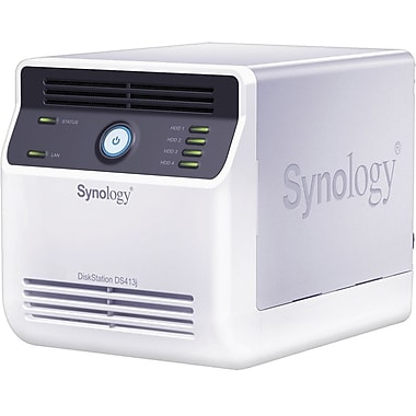Synology® DS413J Economical 4-Bay Network Attached Storage Server, 16 TB