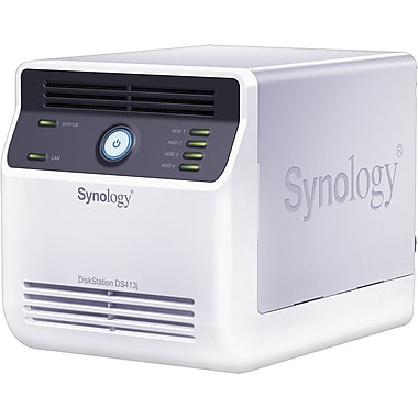 Synology® DS413J 4-Bay Network Attached Storage Server, 16 TB