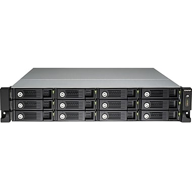 QNAP® TS-1270U-RP Ultra-High Performance 12-Bay Network Attached Storage Server, 48 TB
