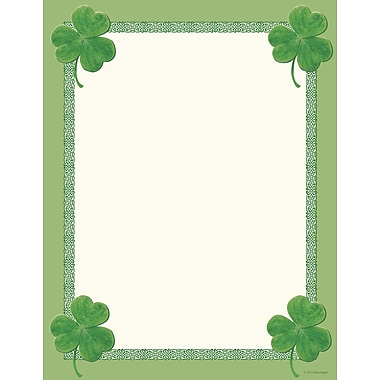 Great Papers® Celtic Clovers Letterhead, 80/Pack