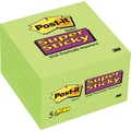 Post-it® Super Sticky 3in.x 3in. Limeade, 5 Pads/Pack