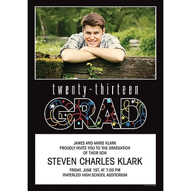 Great Papers® 2013 Confetti Grad Photo Invitations and Envelopes, 25 count