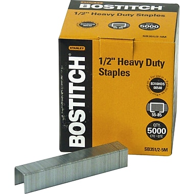 Stanley Bostitch® Troy Heavy-Duty Staples, 1/2