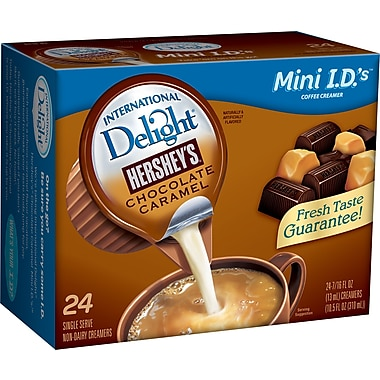 International Delight® Non-Dairy Liquid Hershey's Chocolate Caramel Coffee Creamers, 24/Box