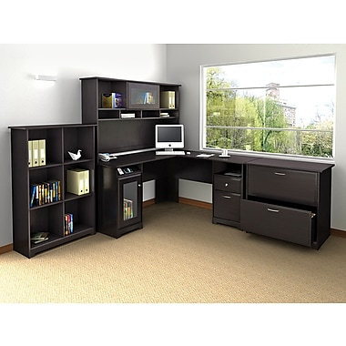 Bush Cabot L Desk, Hutch, Bookcase and Lateral File Office Bundle