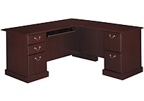 Bush Saratoga 66' L Desk, Harvest Cherry