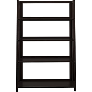 Bush Canted Bookcase, Warm Molasses