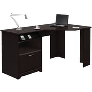 Bush Furniture Cabot Corner Desk, Espresso Oak