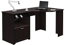 Bush Cabot Corner Desk, Espresso Oak