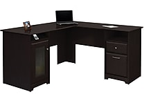 Bush Cabot 60' L-Desk, Espresso Oak