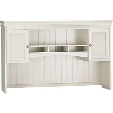 Bush Furniture Fairview Hutch for L Shaped Desk, Antique White (WC53231-03)