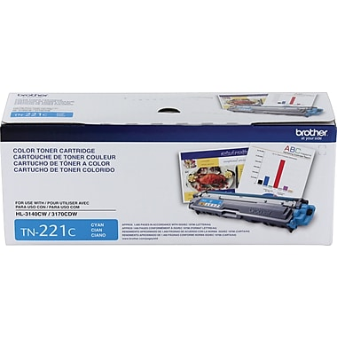 Brother - Cartouche de toner TN221C cyan