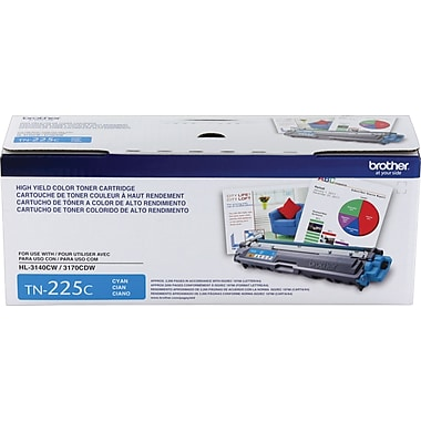 Brother TN-225C Cyan Toner Cartridge, High Yield