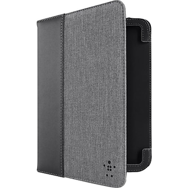 Belkin Chambray Cover w/ Stand for Kindle Fire HD 7in., Black/Gravel
