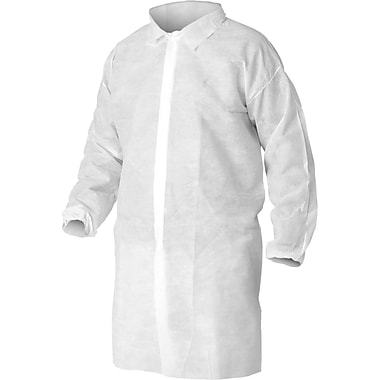 KleenGuard® A10 Light-Duty White Lab Coat, Snap Front, Large