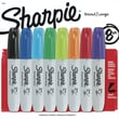 Sharpie® Chisel Tip Permanent Markers, Assorted, 8/Pack