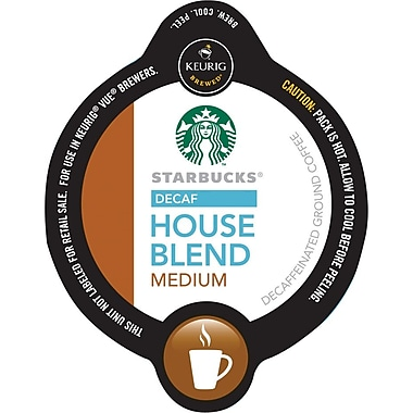 Keurig Vue Pack Starbucks House Blend Coffee, Decaf, 16/Pack