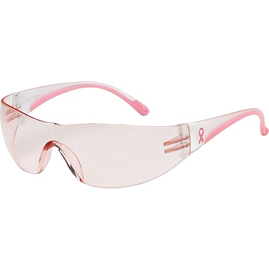 Bouton Optical Eva Safety Glasses, Pink/Clear Frame, Light Pink Lens, Antiscratch Coating