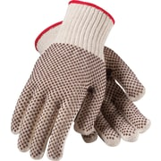 PIP Knit Work Gloves With PVC Coating, S, White & Black, Dozen