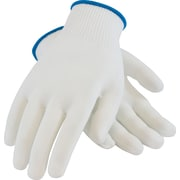 CleanTeam Seamless Knit Work Gloves, 100% Nylon, Medium, White, 12 Pairs