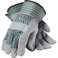 PIP Work Gloves, Split Leather With Safety Cuffs, Multi-Colored, 12 Pairs