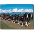 Trademark Global in.Clydesdales in Blue Sky Mountainsin. Canvas Arts