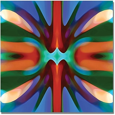 Trademark Global Amy Vangsgard in.Tree Light Symmetry Blue Greenin. Canvas Arts