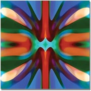"Trademark Global Amy Vangsgard ""Tree Light Symmetry Blue Green"" Canvas Art, 24"" x 24"""