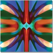 "Trademark Global Amy Vangsgard ""Tree Light Symmetry Blue Green"" Canvas Art, 35"" x 35"""